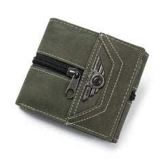 Men's Faux Leather ID Credit Card Holder Wallet Zipper Purse