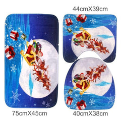 Santa Claus Bathroom Set 3pcs