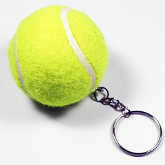 mini Tennis Ball Key Chain Metal Keychain Key Ring sports