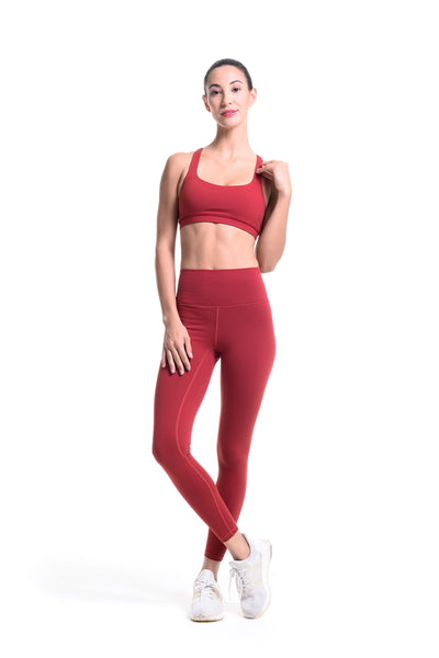 MKLZ FUSE Leggings Burgundy Yoga Pants Activewear Athleisure Nike Adidas Lululemon Alo Lorna Jane