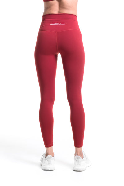 MKLZ FUSE Leggings Yoga Pants Burgundy Activewear Athleisure Nike Adidas Lululemon Alo Lorna Jane