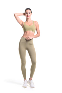MKLZ FUSE Leggings Yoga Pants Olive Green Activewear Athleisure Nike Adidas Lululemon Alo Lorna Jane