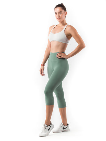 FUSE II Leggings Crop - Ocean Green