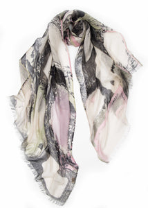 """Frames"" Woven Printed Scarf - Pashma Outlet"