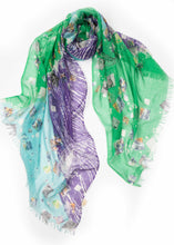 Paisley Graffiti Printed Silk Cashmere Wrap - Pashma Outlet