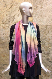 Multicoloured Sparkle Effect Scarf - Pashma Outlet