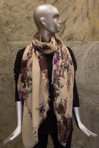 Spring hues on a Silk Cashmere Woven Shawl - Pashma Outlet