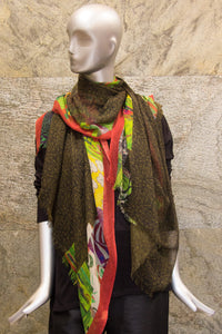 Batik Mustard Multicloured Woven Shawl - Pashma Outlet