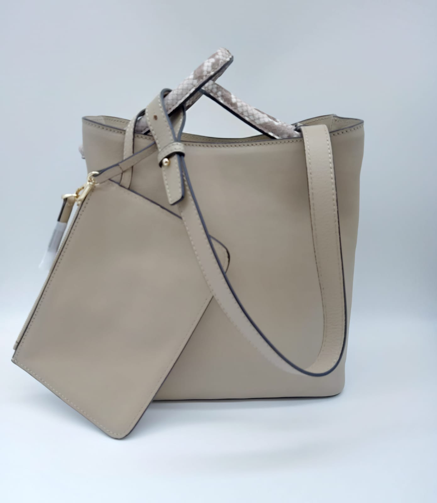 Tan Calf Leather Shoulder Bag