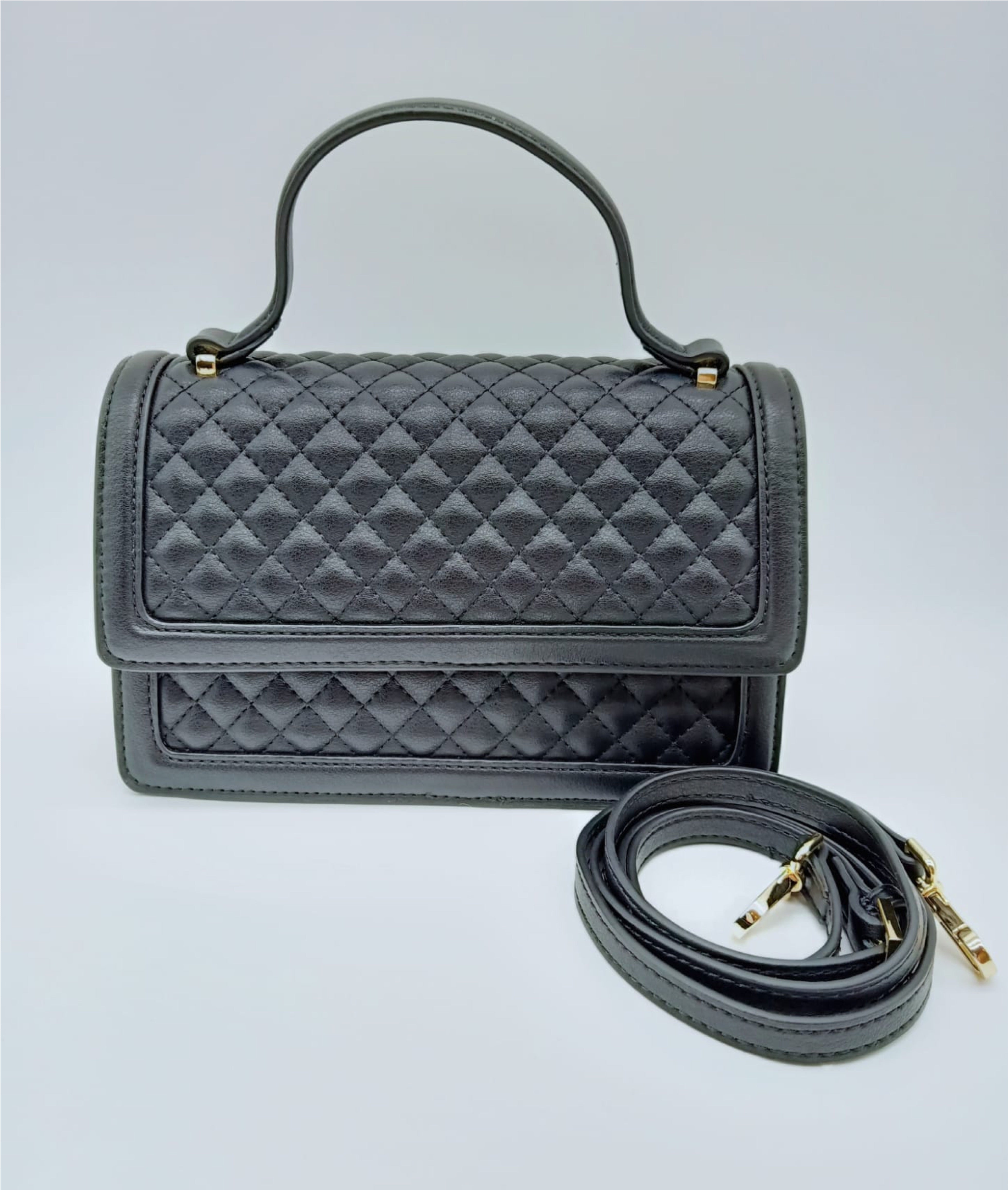 Calf Leather Quilted Handbag