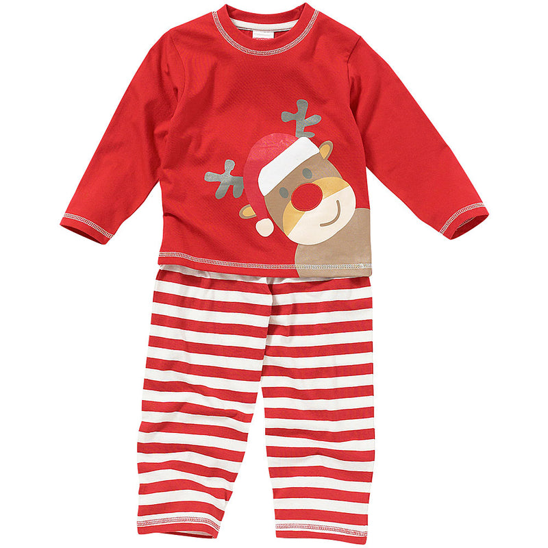 Cute Christmas Reindeer Striped Pyjamas - By The ClothingOutlet – www.theclothingoutlet.co.uk