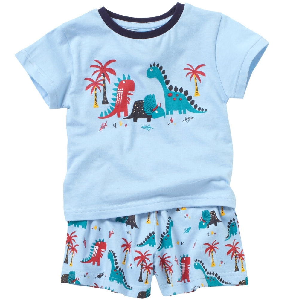 Boys Dinosaur Shortie Pyjamas