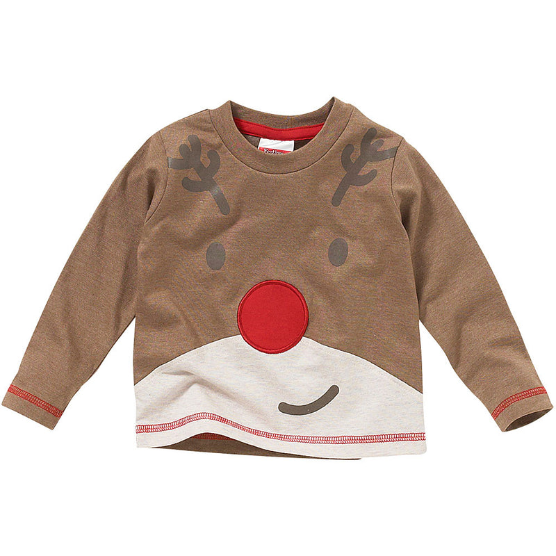 Childs Reindeer Face Top