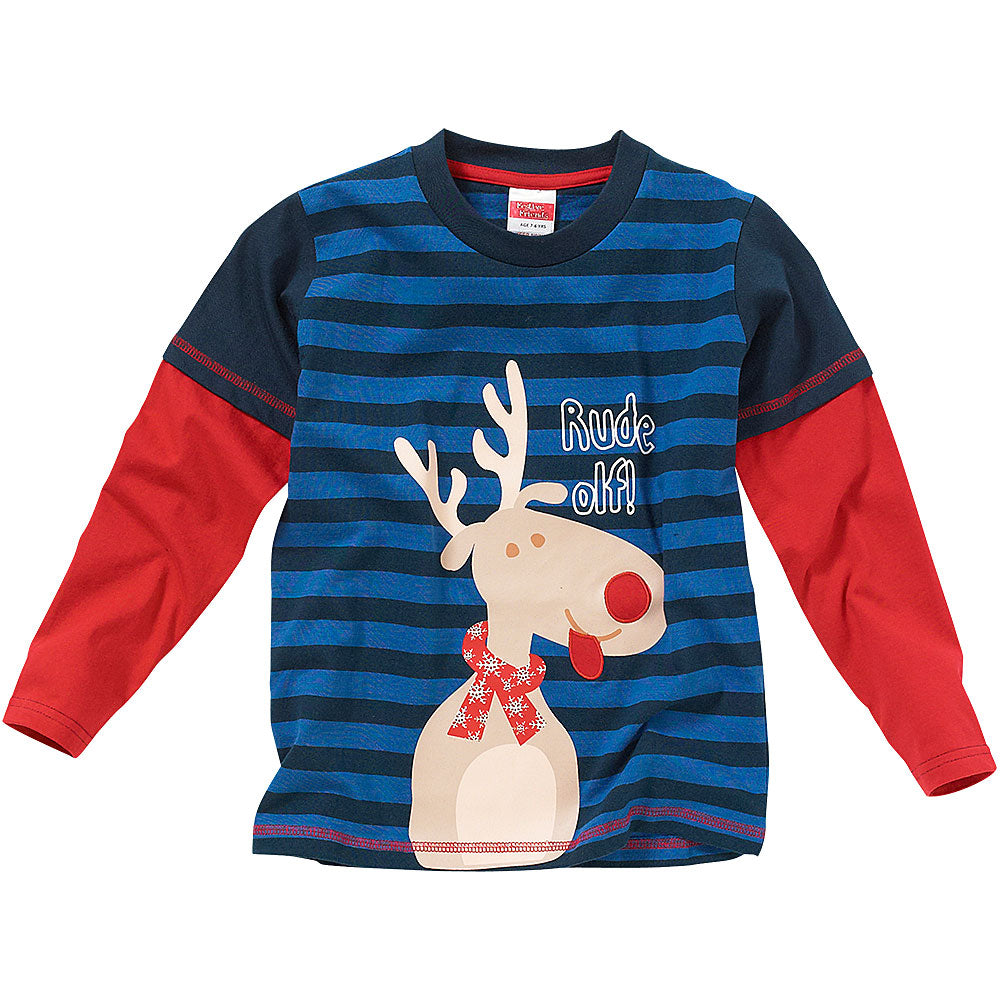 Childs Reindeer Top