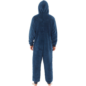Mens Shaggy Fleece Onesie