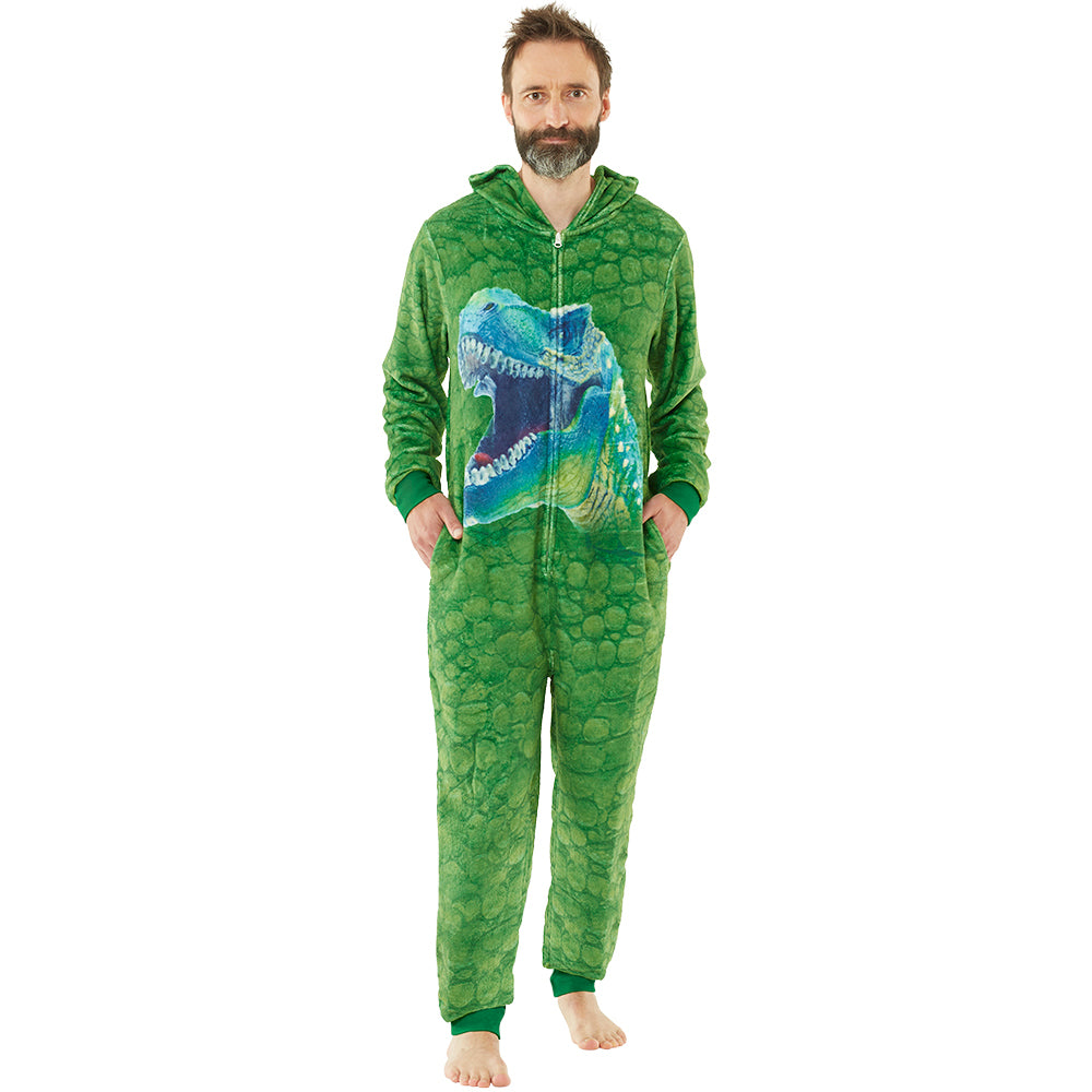 Mens Digital Dinosaur Fleece Onesie