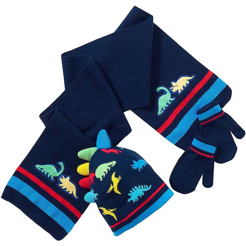 Dinosaur Hat, Scarf And Mitts Set