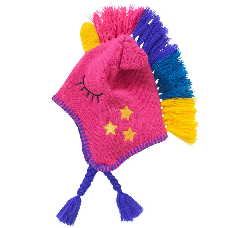 Girls Unicorn Knitted Winter Hat
