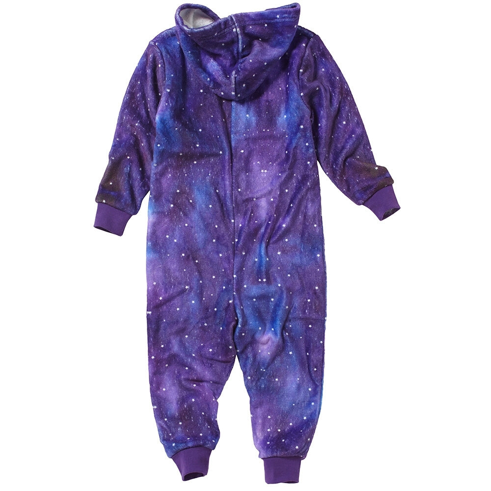 Girls Digital Print Unicorn Onesie
