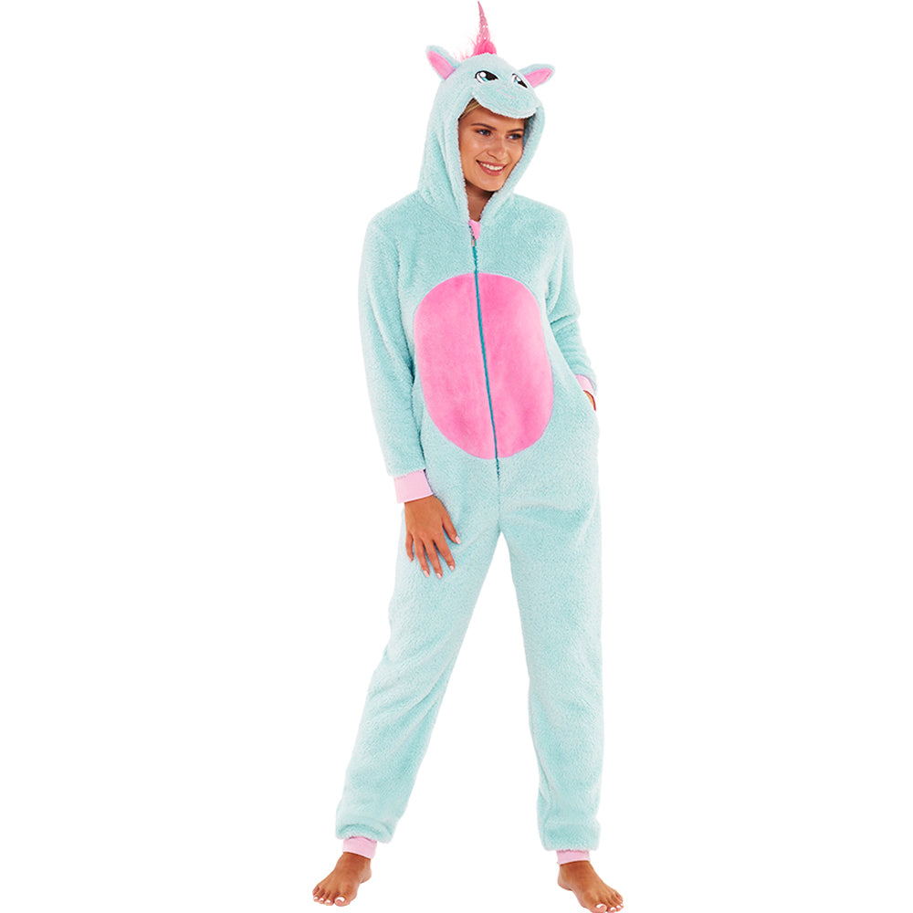 Women's Glitter Unicorn Onesie