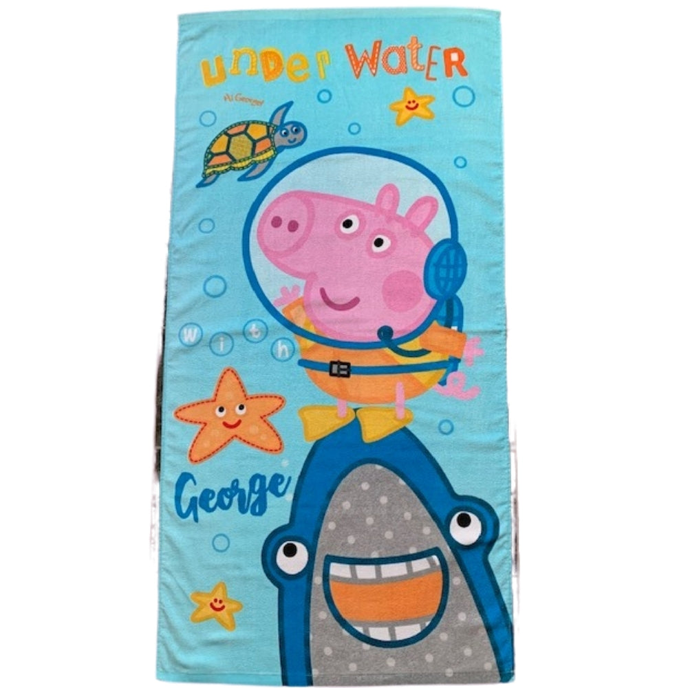 George Pig Underwater Beach Towel
