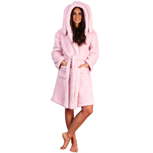 Women's Rabbit Eared Dressing Gown