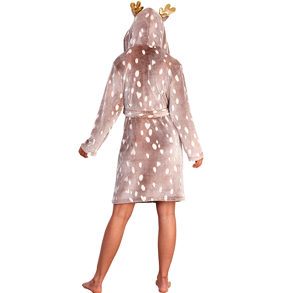 Women's Reindeer Dressing Gown
