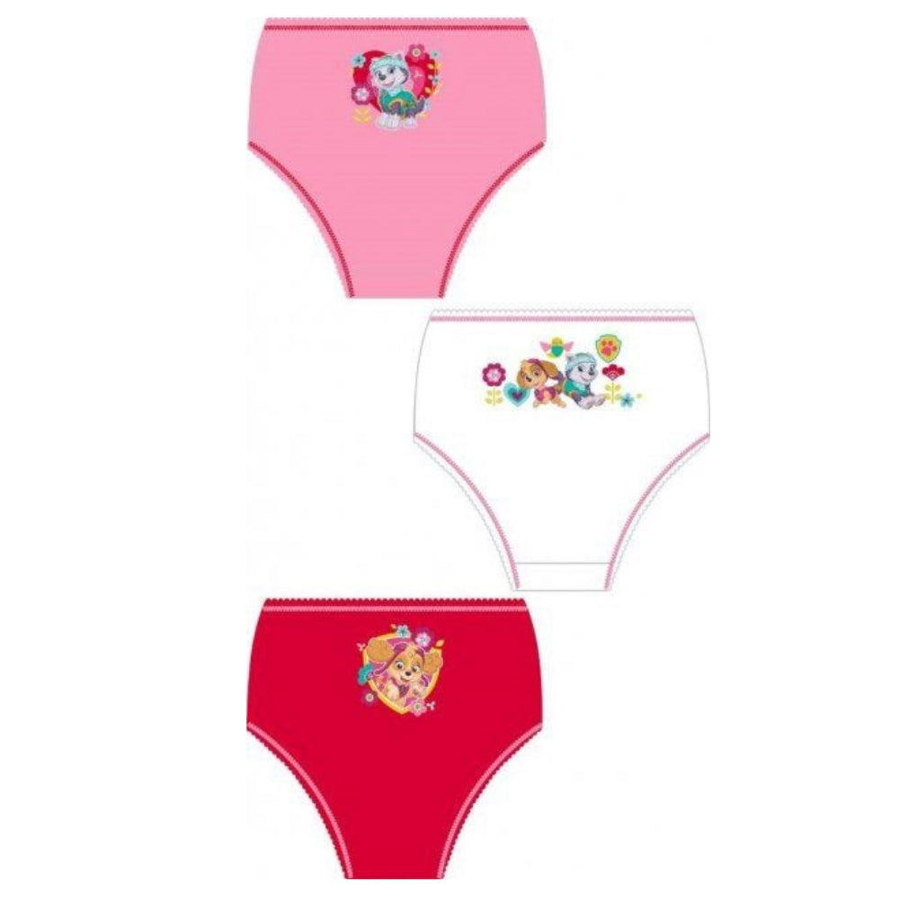 Paw Patrol Girls 3 Pack Briefs