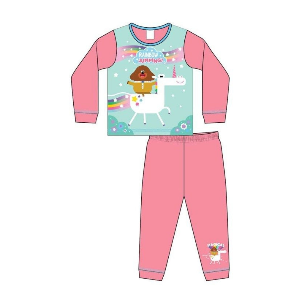 Hey Duggee Girls Rainbow Unicorn Pyjamas