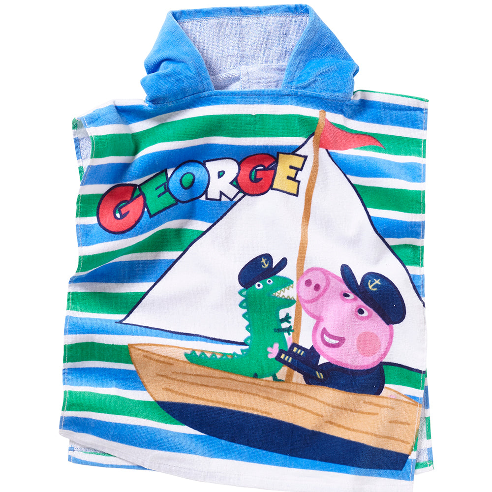 George Pig Towelling Poncho
