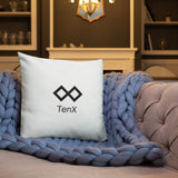 Premium Pillow White - Logo: Black