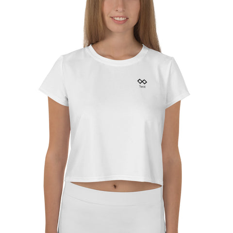 All-Over Print Crop Tee White