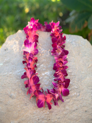 Dyed Orchid Single Lei - Buy 3 get 1 Free - locallei