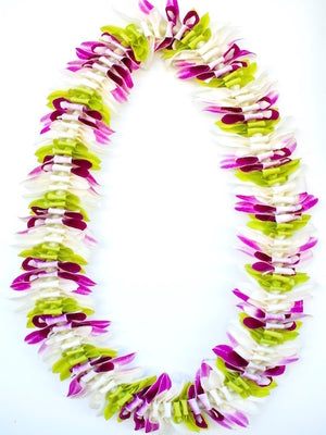 White Green & Purple Alana Lei - locallei