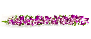 Haku Lei - Purple Orchid - locallei
