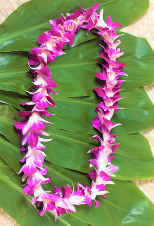 Orchid Single Lei - Pack 3 Leis Mix Colors - locallei