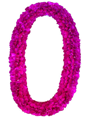 Spiral Purple Lei - locallei