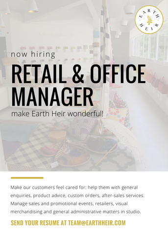 Retail and Office Manager - Vacancy at Earth Heir