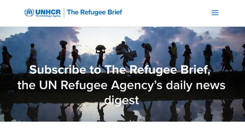 Subscribe to UNHCR daily brief