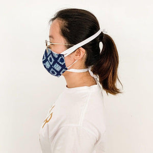 Reusable Face Masks With Ribbon Ties