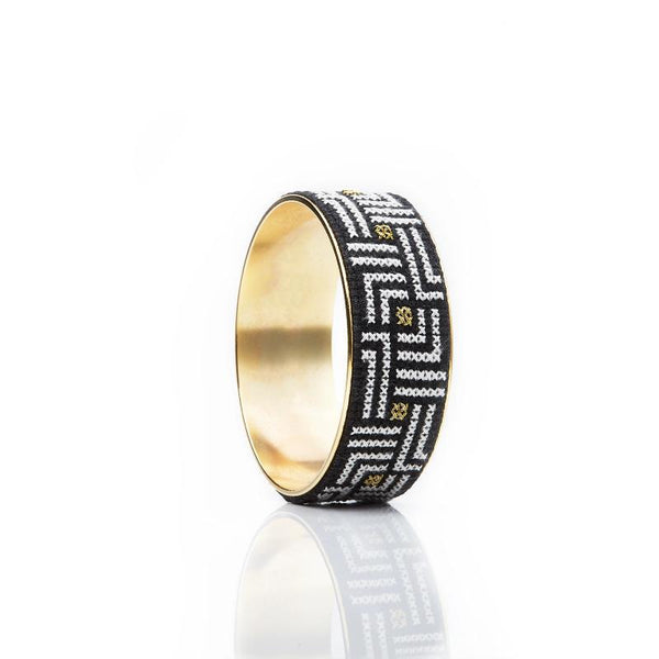 GLOW Arabesque Gold-Plated Bold Bangle
