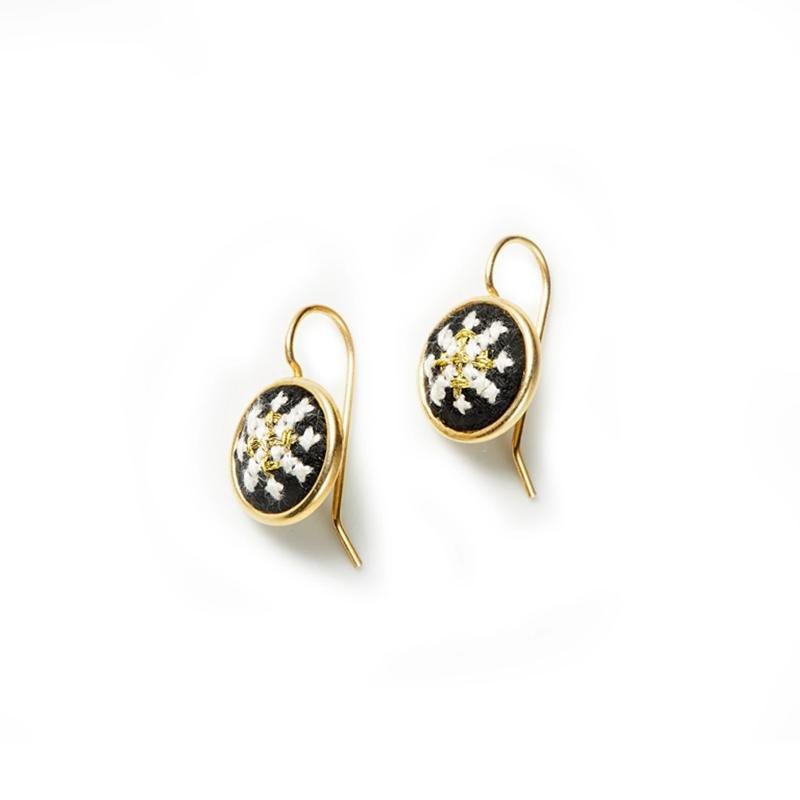 Gold-Plated GLOW Arabesque Dainty Earrings