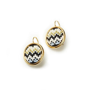 GLOW Nuusum Gold-Plated Statement Earrings