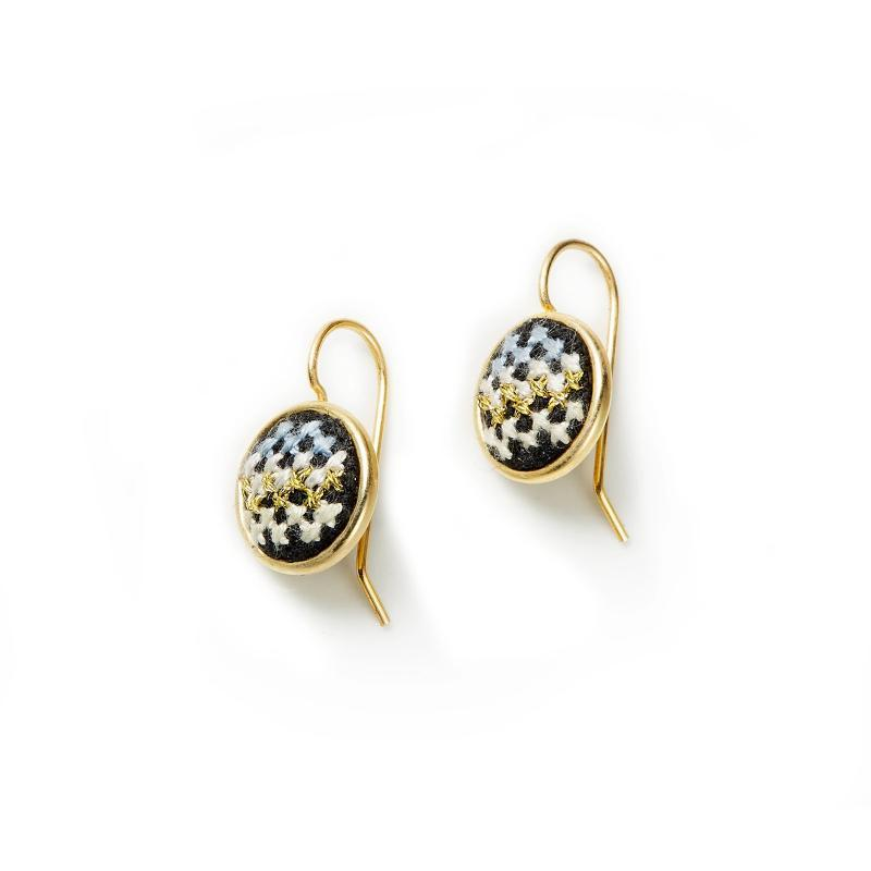 Gold-Plated GLOW Nuusum Dainty Earrings
