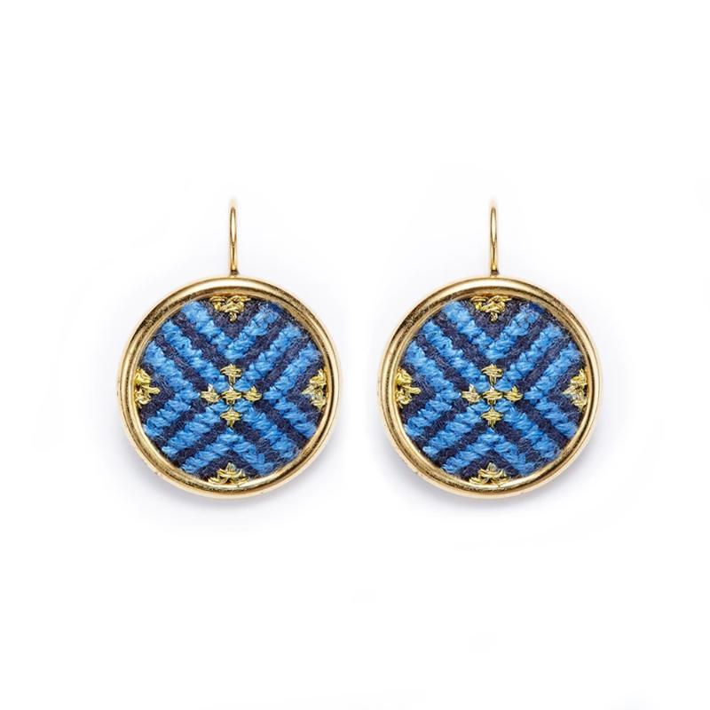 GLOW Arabesque Gold-Plated Statement Earrings