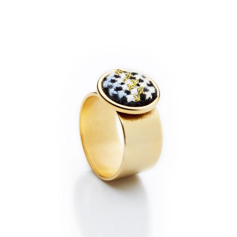 GLOW Nuusum Gold-Plated Ring