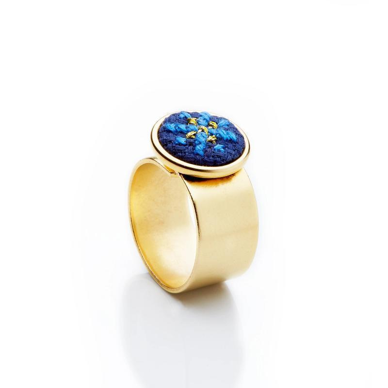 GLOW Arabesque Gold-Plated Ring