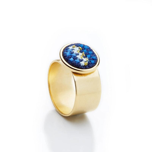 Gold-Plated GLOW Nuusum Ring