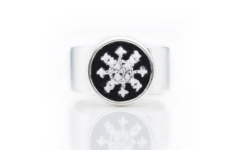 Silver-Plated GLOW Arabesque Ring