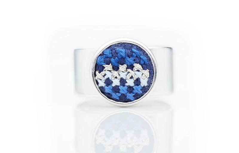 Silver-Plated GLOW Nuusum Ring